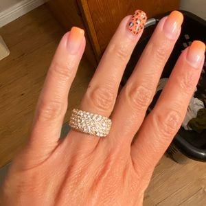 Lia Sophia Gold Pave Ring Size 5